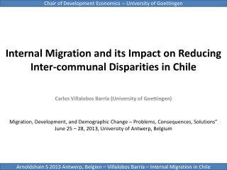 Internal Migration and its Impact on Reducing Inter-communal Disparities in  Chile