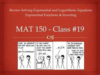 MAT 150 - Class #19