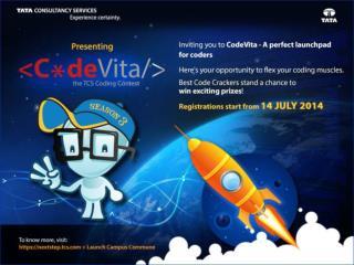 Registration Procedure for  Codevita