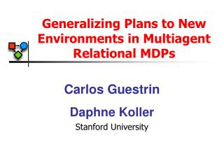 Generalizing Plans to New Environments in Multiagent Relational MDPs