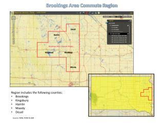Brookings Area Commute Region