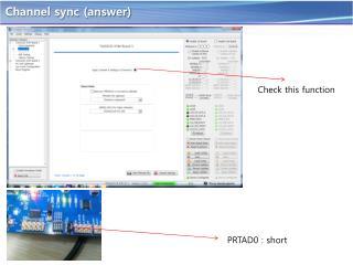 Channel sync (answer)