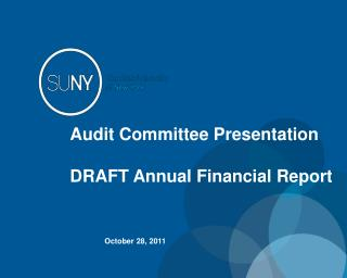 Audit Committee Presentation DRAFT Annual Financial Report