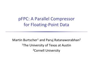 pFPC : A Parallel Compressor for Floating-Point Data