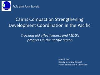 Cairns Compact on Strengthening Development Coordination in the Pacific