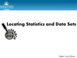 Locating Statistics and Data Sets