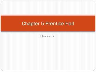 Chapter  5 Prentice Hall