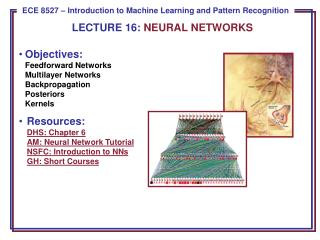 LECTURE  16:  NEURAL NETWORKS