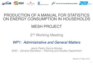 PRODUCTION OF A MANUAL FOR STATISTICS ON ENERGY CONSUMPTION IN  HOUSEHOLDS MESH PROJECT