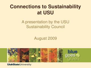 Connections to Sustainability at USU
