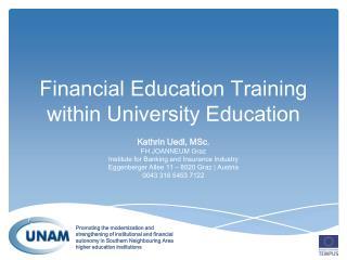 Financial Education Training within University Education