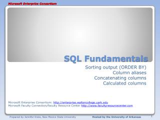 SQL Fundamentals