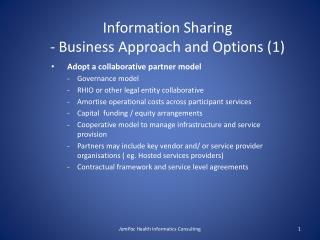 Information Sharing - Business Approach and Options (1)