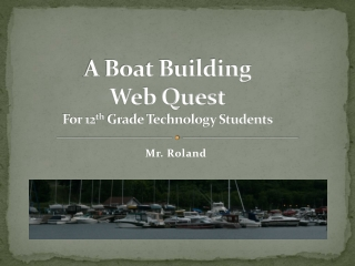 CAN YOU BUILD THE BEST BOAT