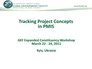 Tracking Project Concepts  in PMIS