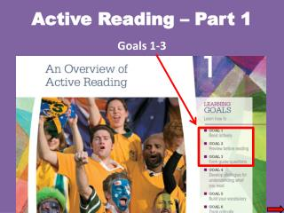 Active Reading – Part 1 Goals 1-3