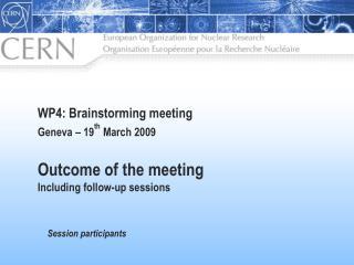 Session participants