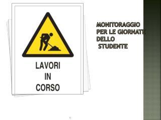 Monitoraggio  per le giornate dello  studente
