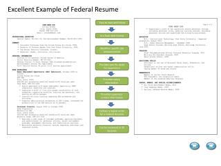Excellent Example of Federal Resume