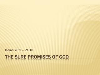 The Sure Promises Of God