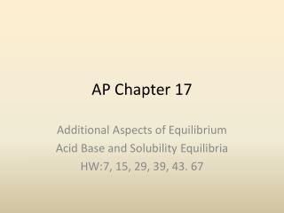 AP Chapter 17