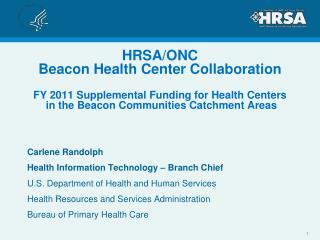 Carlene Randolph Health Information Technology – Branch Chief
