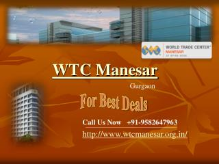 WTC Manesar - WTC Manesar Gurgaon