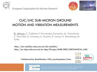 CLIC/LHC sub-micron ground motion and vibration measurements