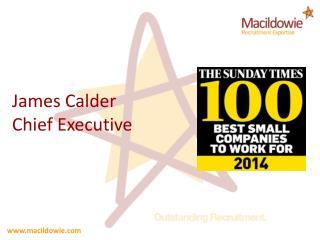 James Calder Chief Executive