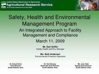 Safety, Health and Environmental Management Program