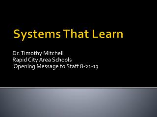 Systems That Learn