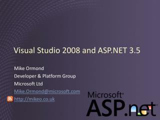 Visual Studio 2008 and ASP.NET 3.5