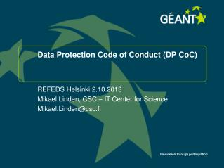 Data  Protection Code  of  Conduct  (DP  CoC )