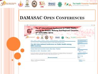 DAMASAC  Open  Conferences