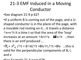 21-3 EMF Induced in a Moving Conductor