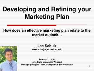 Developing and Refining your Marketing Plan
