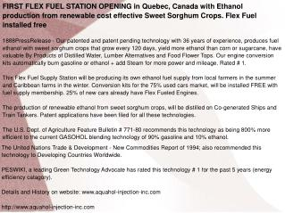 FIRST FLEX FUEL STATION OPENING in Quebec