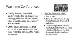 War-time Conferences
