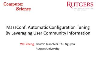 MassConf : Automatic Configuration Tuning By Leveraging User Community Information