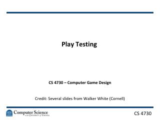 Play Testing
