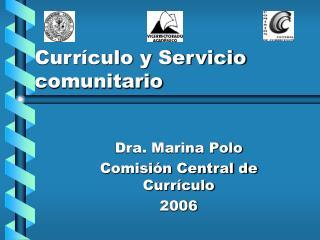 Curr culo y Servicio comunitario