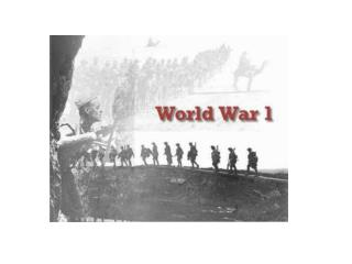 1914 –  World War 1 begins.