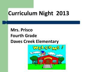 Curriculum Night   2013