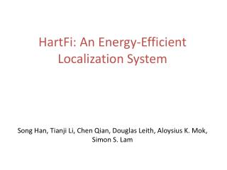 HartFi : An Energy-Efficient Localization System