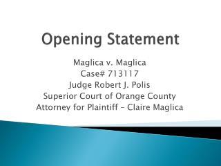 Opening Statement