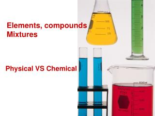 Elements, compounds Mixtures