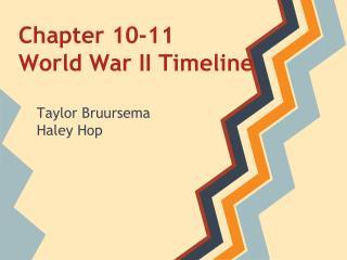 Chapter 10-11   World War II Timeline