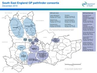 South East England GP pathfinder consortia December 2010