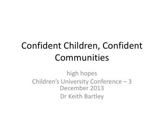 Confident Children, Confident Communities