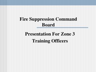 Presentation For Zone 3 Training Officers